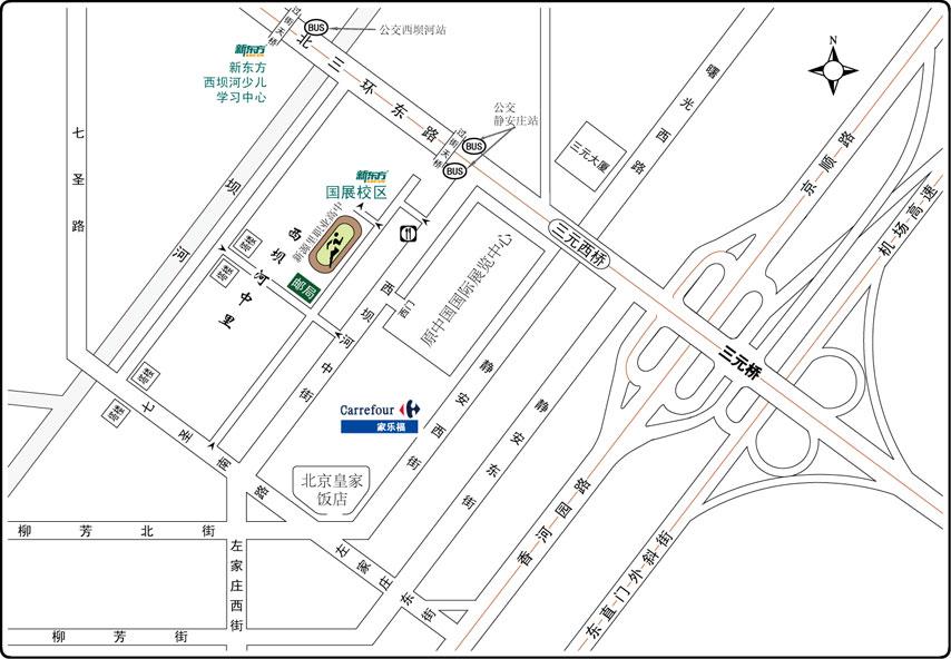 新东方朝阳国展校区 地址 地图