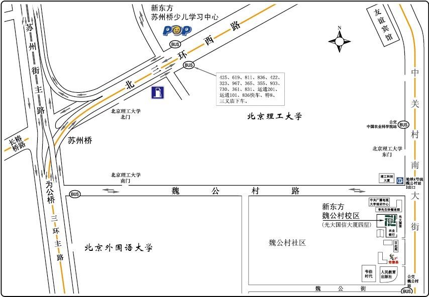 校区地图 海淀