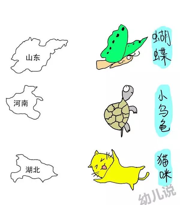 各省份手绘地图