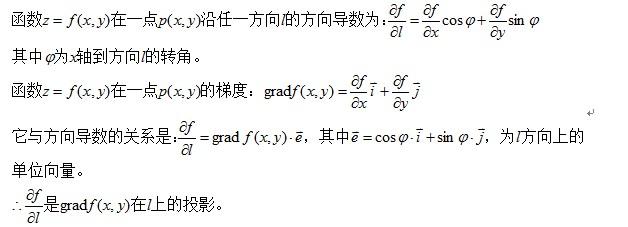 考研数学公式大全之方向导数与梯度